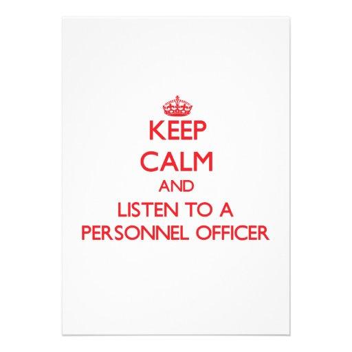 Mantenha a calma e escute um oficial de pessoais convites personalizados