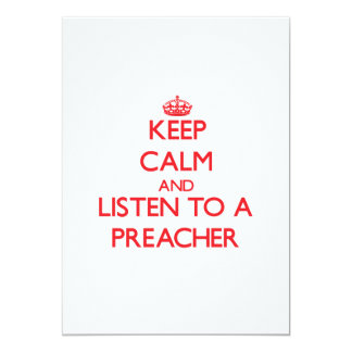Mantenha a calma e escute um pregador convites personalizado