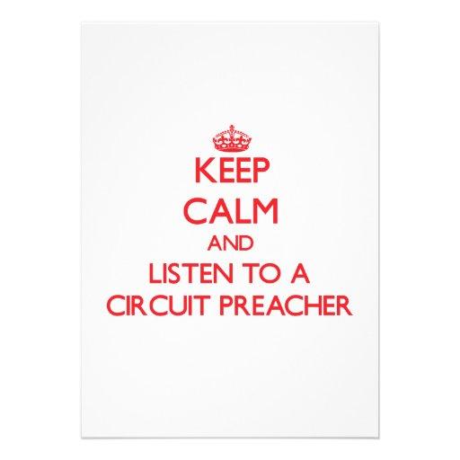 Mantenha a calma e escute um pregador do circuito convite personalizados