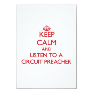 Mantenha a calma e escute um pregador do circuito convite 12.7 x 17.78cm