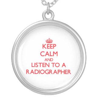Mantenha a calma e escute um técnico de radiologia colar personalizado