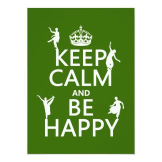 Mantenha a calma e esteja feliz (a dança) convites personalizados