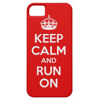 Mantenha a calma e funcione-a no cobrir do caso do capa barely there para iPhone 5
