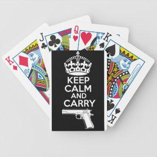 Mantenha a calma e leve uma citação baralho para pôquer