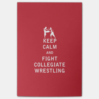 Mantenha a calma e lute a luta escolar post-it note