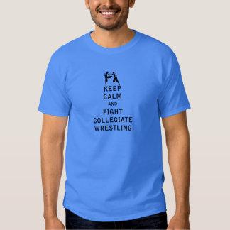 Mantenha a calma e lute a luta escolar t-shirts