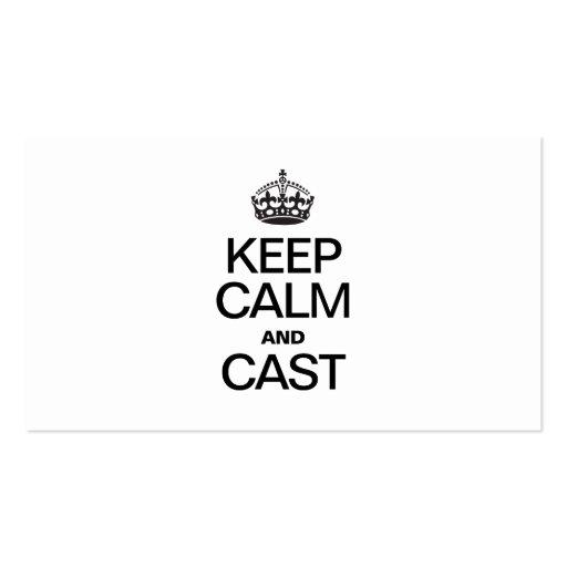 Mantenha a calma E MOLDE-A Modelo Cartões De Visitas