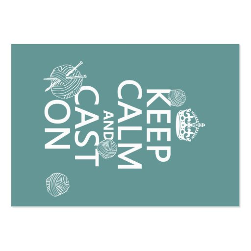 Mantenha a calma e molde sobre - todas as cores cartões de visitas