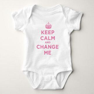 Mantenha a calma e mude-me body para bebê
