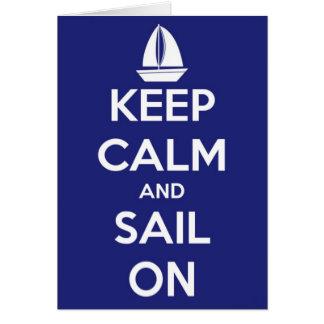 Mantenha a calma e navegue no cartão