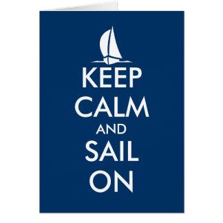 Mantenha a calma e navegue no cartão | náutico