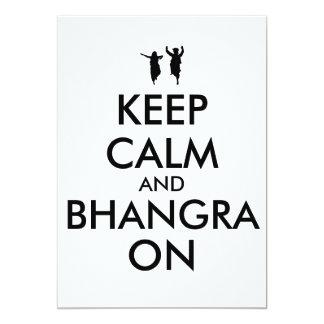 Mantenha a calma e o Bhangra na dança customizável Convite Personalizado