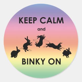 Mantenha a calma e o Binky na etiqueta (o