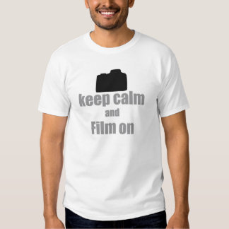 Mantenha a calma e o filme sobre t-shirts