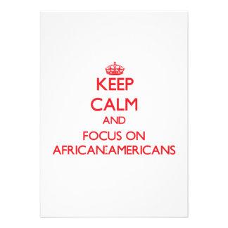 Mantenha a calma e o foco em AFRO-AMERICANOS