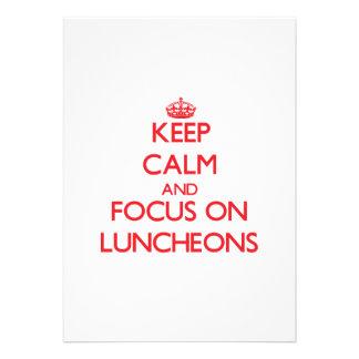 Mantenha a calma e o foco em almoços