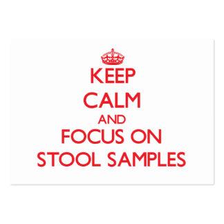 Mantenha a calma e o foco em amostras de tamborete