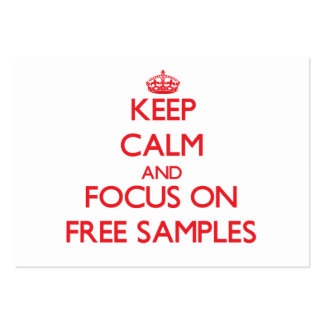 Mantenha a calma e o foco em amostras grátis cartao de visita