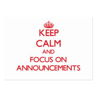 Mantenha a calma e o foco em ANÚNCIOS