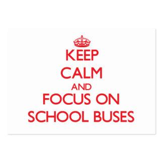 Mantenha a calma e o foco em auto escolares cartões de visita
