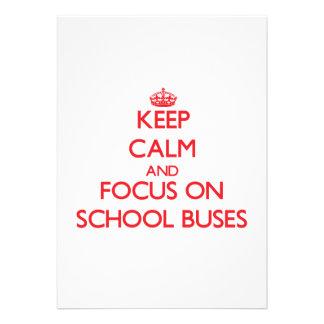 Mantenha a calma e o foco em auto escolares convite personalizados