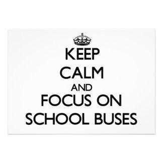 Mantenha a calma e o foco em auto escolares convite personalizado
