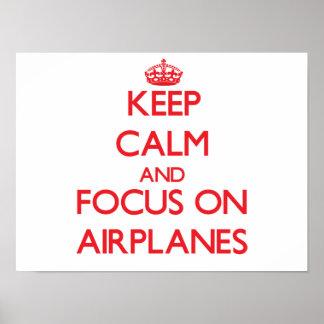 Mantenha a calma e o foco em AVIÕES