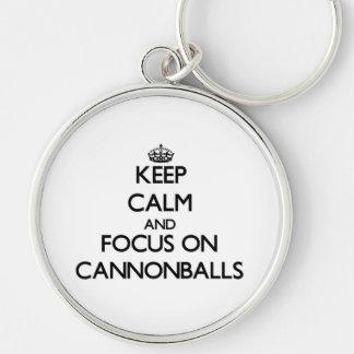 Mantenha a calma e o foco em balas de canhão