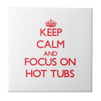 Mantenha a calma e o foco em banheiras de hidromas azulejo