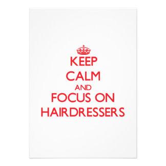 Mantenha a calma e o foco em cabeleireiro