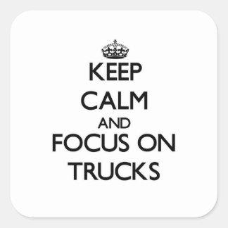 Mantenha a calma e o foco em caminhões
