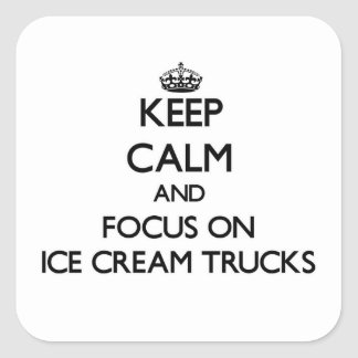 Mantenha a calma e o foco em caminhões do sorvete