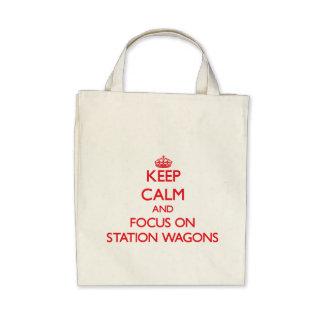Mantenha a calma e o foco em carrinhas bolsas para compras