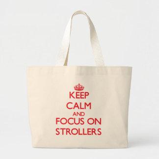 Mantenha a calma e o foco em carrinhos de criança bolsas para compras