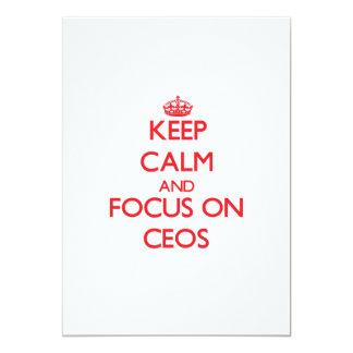 Mantenha a calma e o foco em CEOs Convite Personalizados