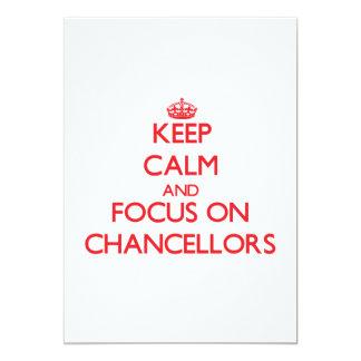 Mantenha a calma e o foco em chanceleres convites