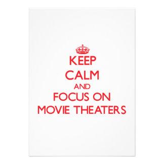 Mantenha a calma e o foco em cinemas