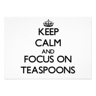 Mantenha a calma e o foco em colheres de chá