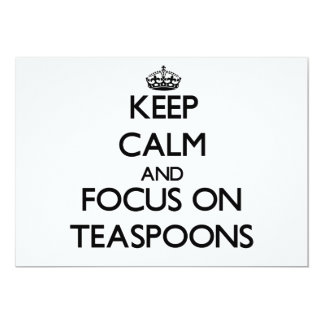 Mantenha a calma e o foco em colheres de chá convite