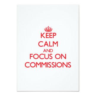 Mantenha a calma e o foco em comissões convites personalizados