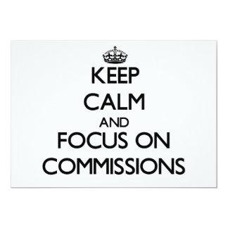 Mantenha a calma e o foco em comissões convite