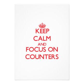 Mantenha a calma e o foco em contadores