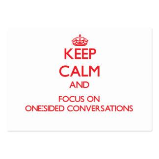 Mantenha a calma e o foco em conversações unilater modelo cartoes de visitas