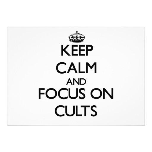 Mantenha a calma e o foco em cultos convite