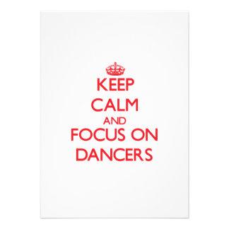 Mantenha a calma e o foco em dançarinos