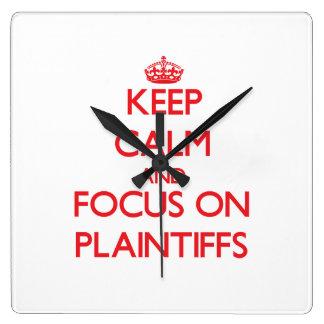 Mantenha a calma e o foco em demandantes relógios para paredes