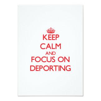 Mantenha a calma e o foco em Deporting Convites Personalizados