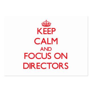 Mantenha a calma e o foco em diretores