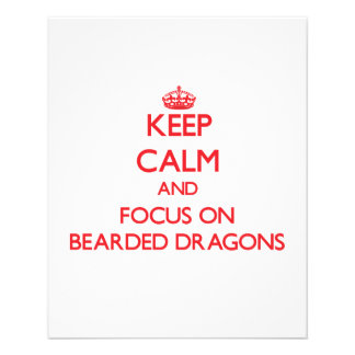 Mantenha a calma e o foco em dragões farpados panfletos coloridos
