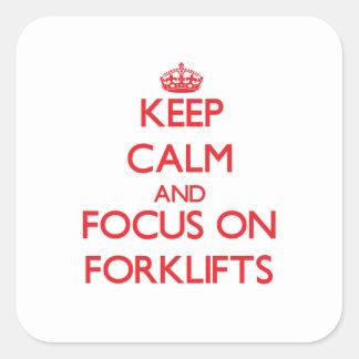 Mantenha a calma e o foco em empilhadeiras